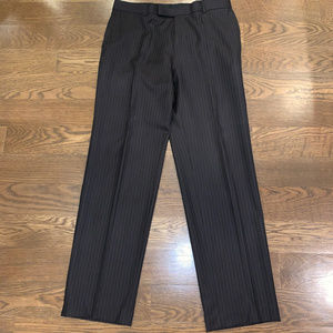 Brown striped wool Hugo Boss dress pants, size 40